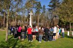St. Ignatius and St. Patrick students pray at the Bergen-op-Zoom Canadian War Cemetery, March 2014.